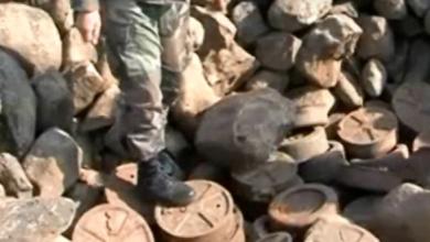 Photo of وحدات الجيش تعثرت تحت الأرض مخبأ يحوي أعدادا كبيرة من الألغام