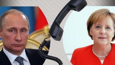 Photo of بوتين بحث الآوضاع هاتفيا مع المستشارة الألمانية أنغيلا ميركل