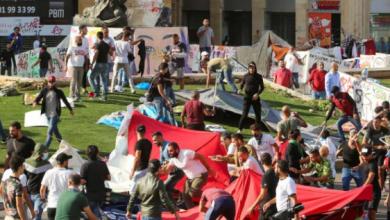 Photo of مناصرو أمل فتح الطريق بالقوة رغم محاولات القوات الأمنية وقفهم