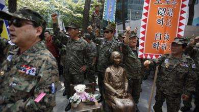 Photo of اليابان إزاحة الستار عن النصب التذكاري فتاة السلام