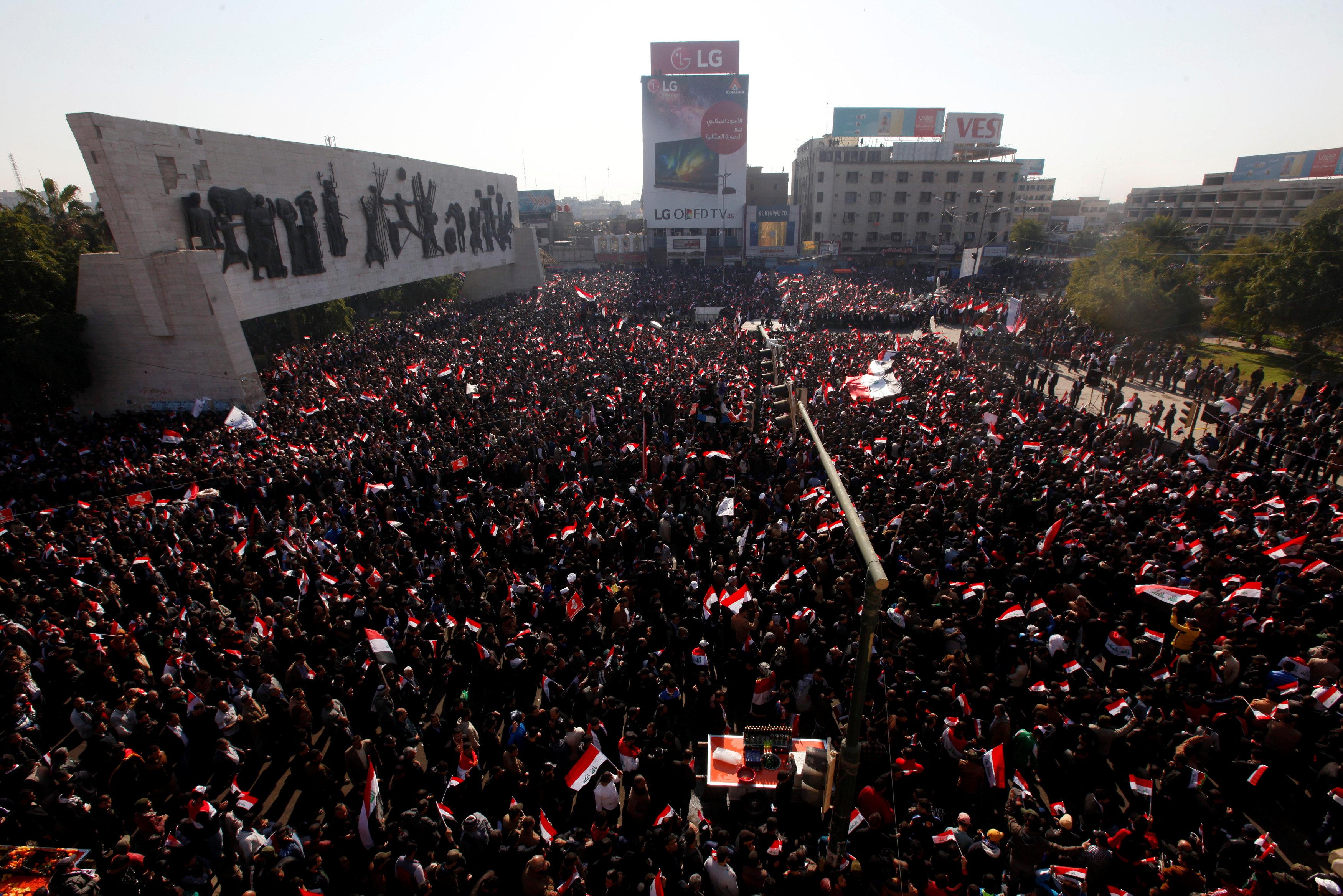 مظاهرات ضد الفساد في العراق تنتهي بصدامات مع قوات الامن