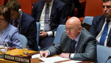 Photo of أعرب المندوب الروسي لدى الأمم المتحدة فاسيلي نيبينزيا عن أمل موسكو في عدم حدوث فراغ في السلطة بالعراق بعد استقالة رئيس وزرائه