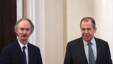 Photo of وزير الخارجية الروسي سيرغي لافروف : يستقبل المبعوث الأممي الخاص إلى سوريا غير بيدرسن