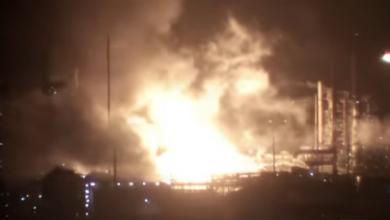 "Photo of فيديو..حريق ضخم داخل مصفاة نفط تابعة لشركة ""إكسون موبيل"" في الولايات المتحدة"