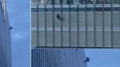 Photo of شاب يتدلى بحبل من الطابق 16 ببرج ترمب ويهدد بالانتحار إذا لم يتم تنفيذ طلبه!