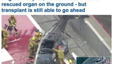 """Photo of تحطم مروحية أمريكية تحمل """"قلب متبرع"""" على سطح مستشفى في لوس أنجلوس وطبيب يسقط على الأرض"""
