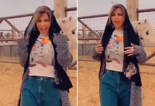 "Photo of شاهد.. شمس الكويتية تسير في شوارع بريدة : ""أبغى حليب إبل""!"