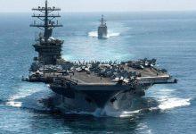 """Photo of بعد التهديدات الإيرانية .. أمريكا تكشف مصير حاملة الطائرات """"العملاقة"""" في مياه الخليج"""