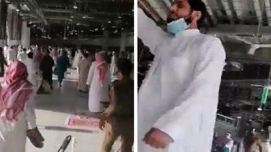 """Photo of شاهد.. القبض على """"إرهابي"""" أثار فزع المصلين بالحرم بصرخاته وترديد عبارات المنتمين لداعش"""